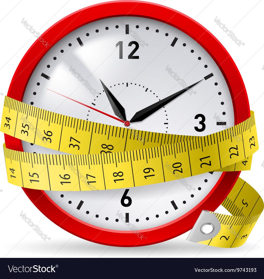 Watch metr diet 01 vector image