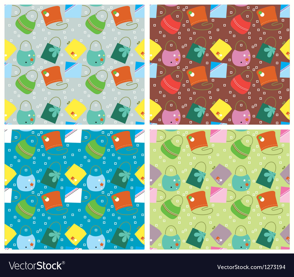 Color seamless pattern vector image