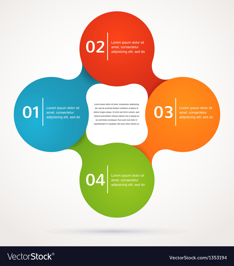 Abstract design and infographics background icon vector image