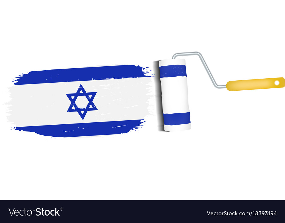 Flag Of Israel. Official Israel Flag. Isolated Waving Israel ...