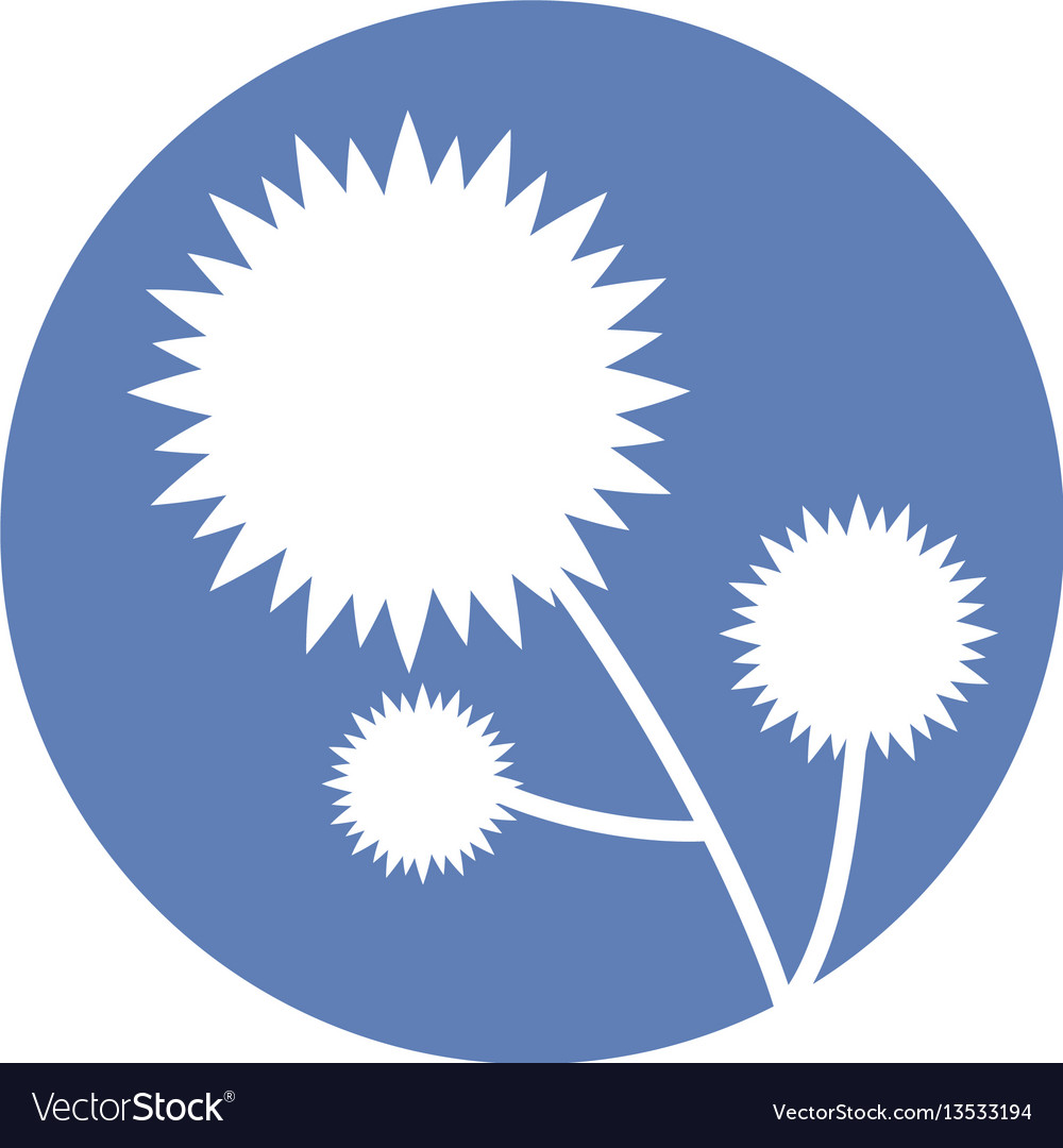 Flower floral natural icon vector image