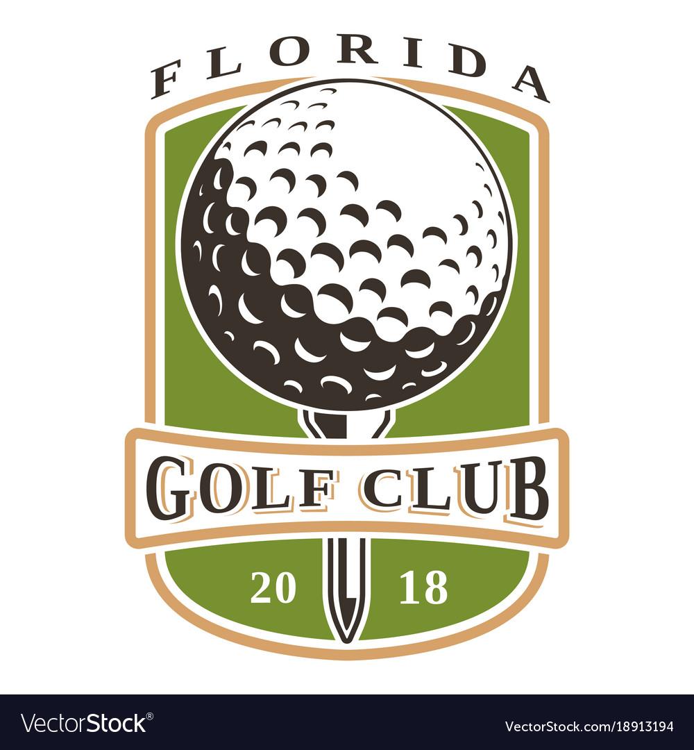 golf ball logo royalty free vector image vectorstock