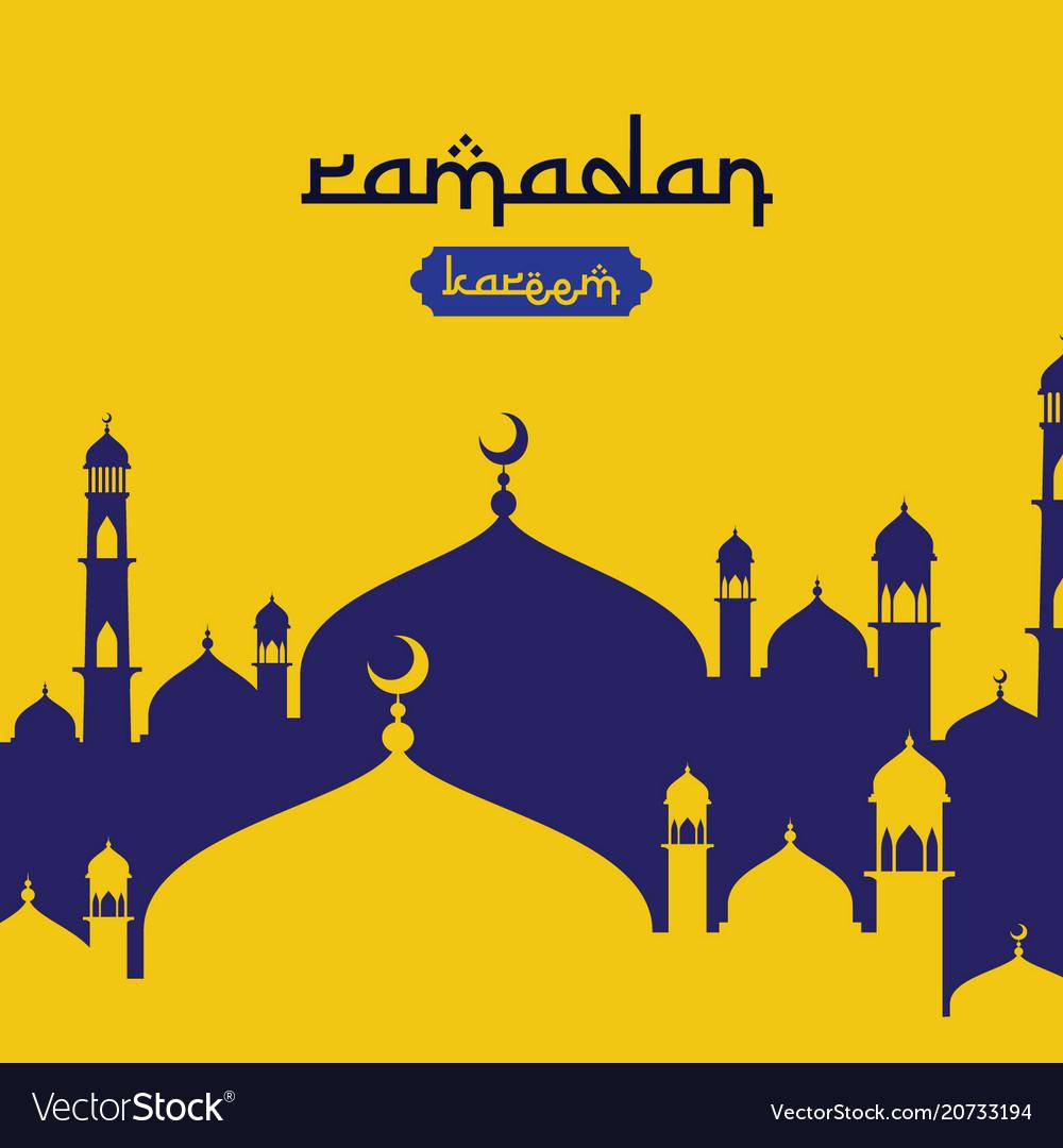 Ramadan kareem islamic greeting design with dome vector image m4hsunfo Choice Image