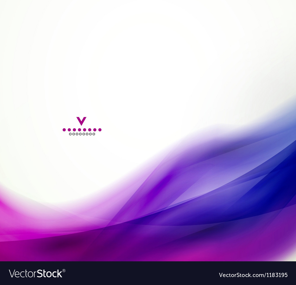 Colorful abstract wave design template vector image