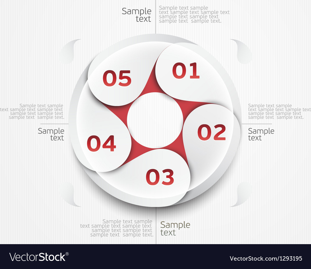 Design circle vector image