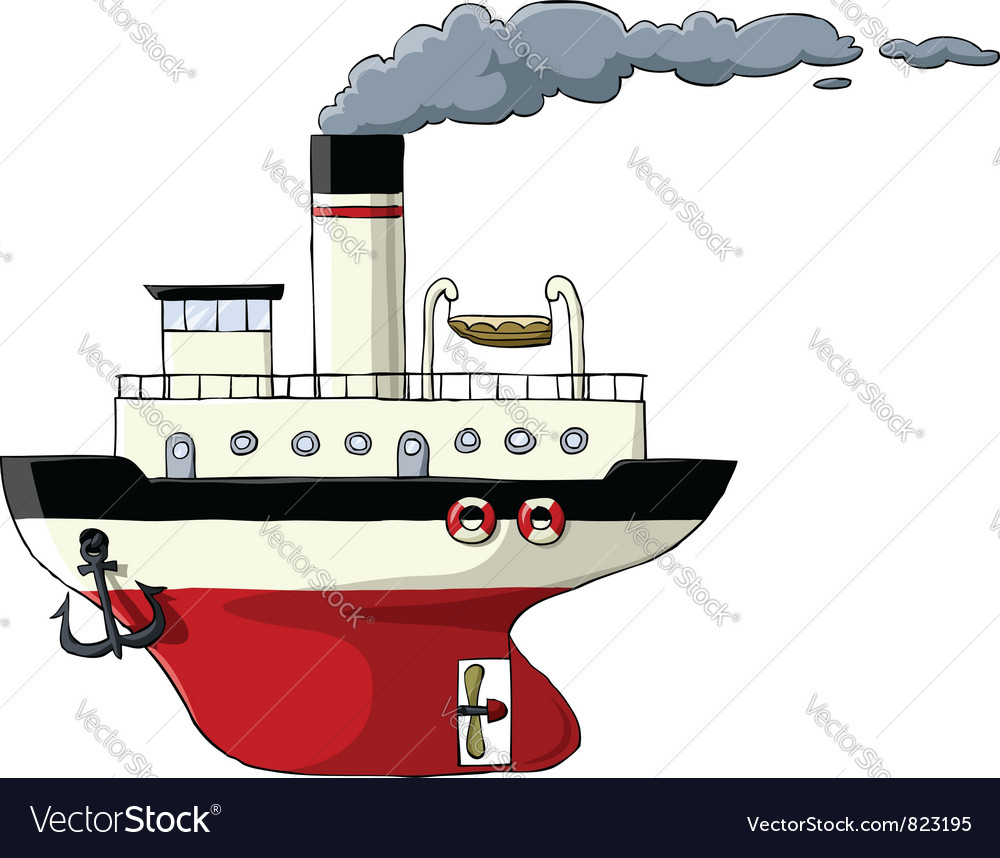 Steamer vector image
