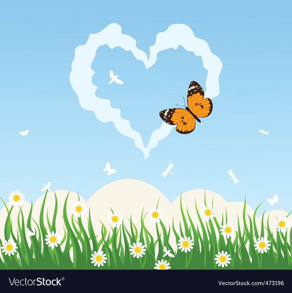 Love cloud vector image