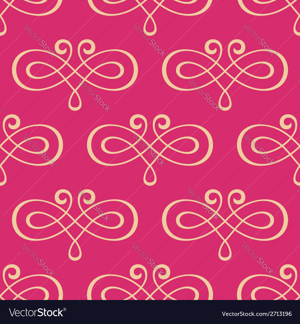 Seamless curly swirl antique motif vector image