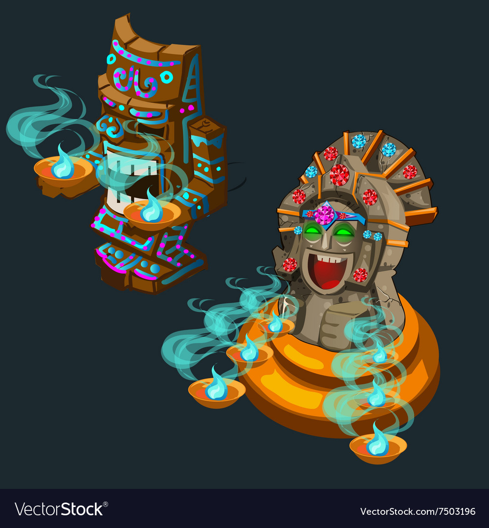 Two ancient ritual of deity vector image