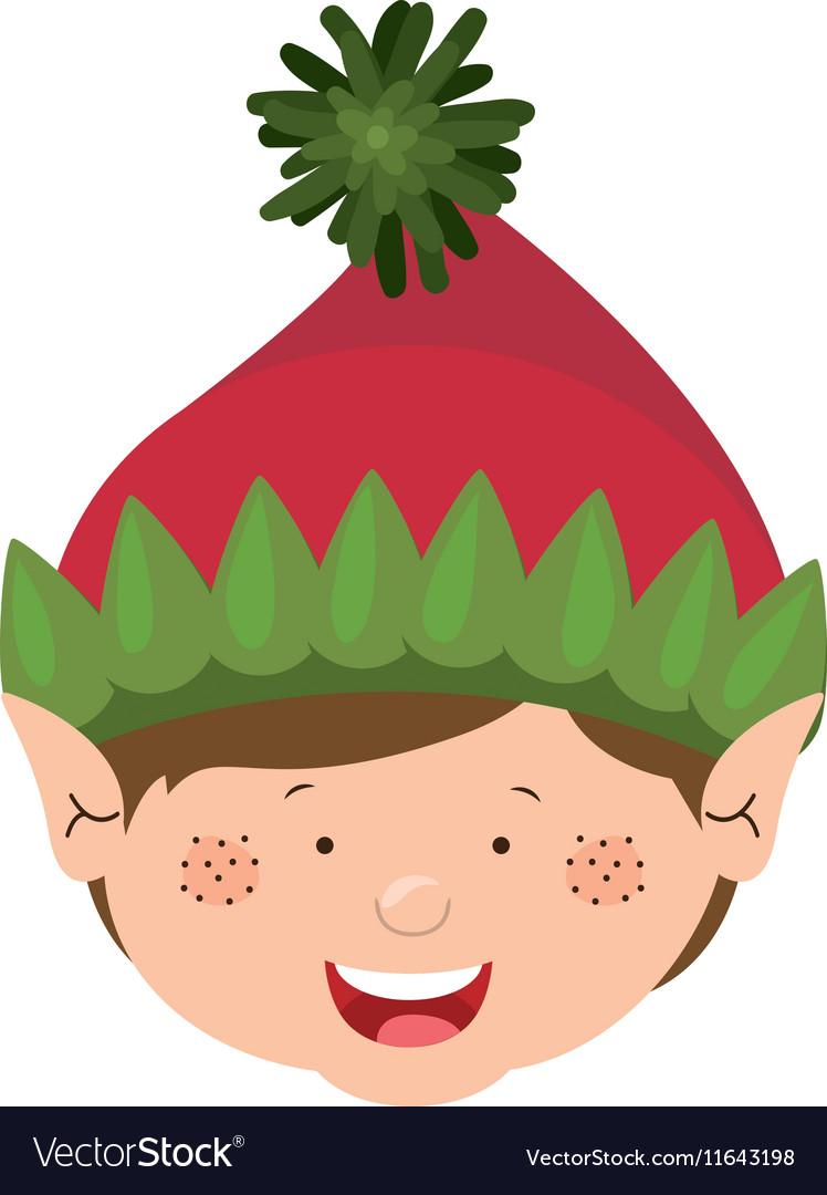 Color image of gnome boy head vector image