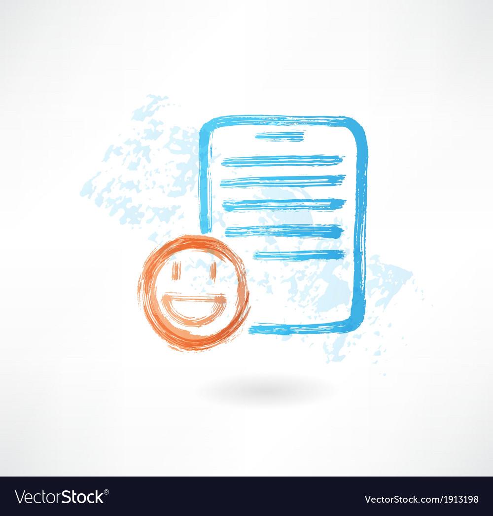 Good document grunge icon vector image