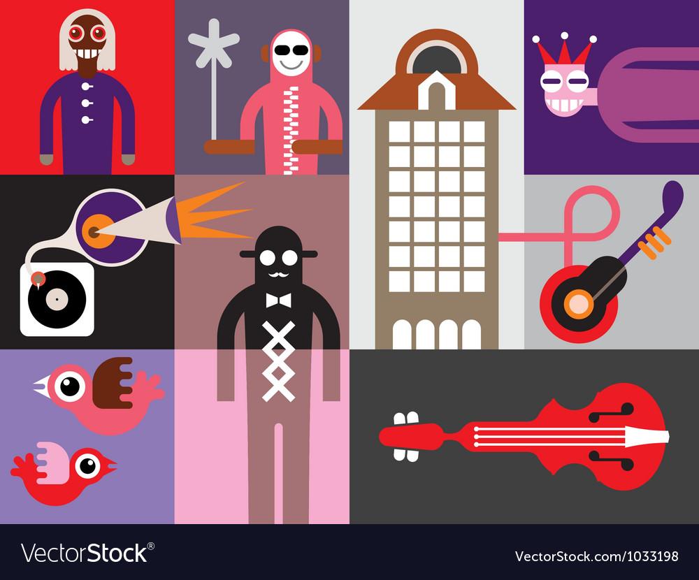 Music festival banner vector image