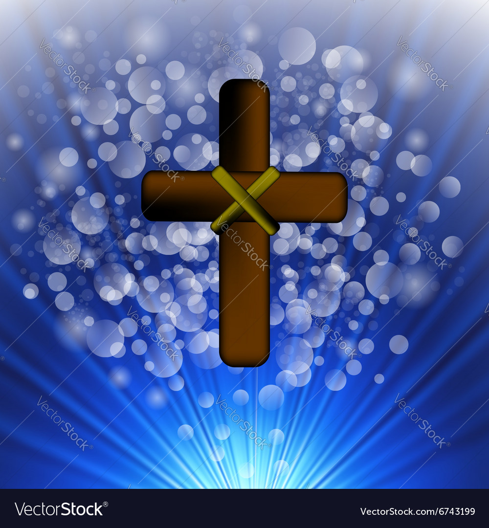 Simple Brown Wooden Cross vector image