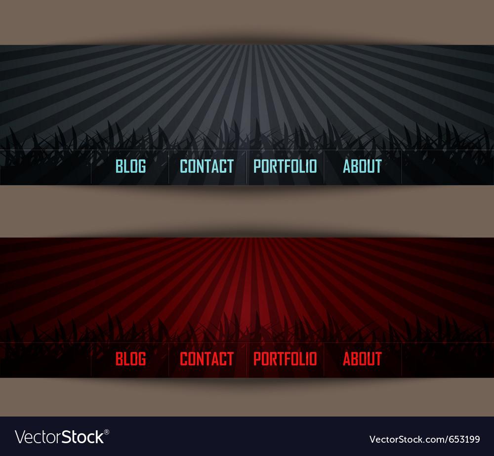 Template website vector image