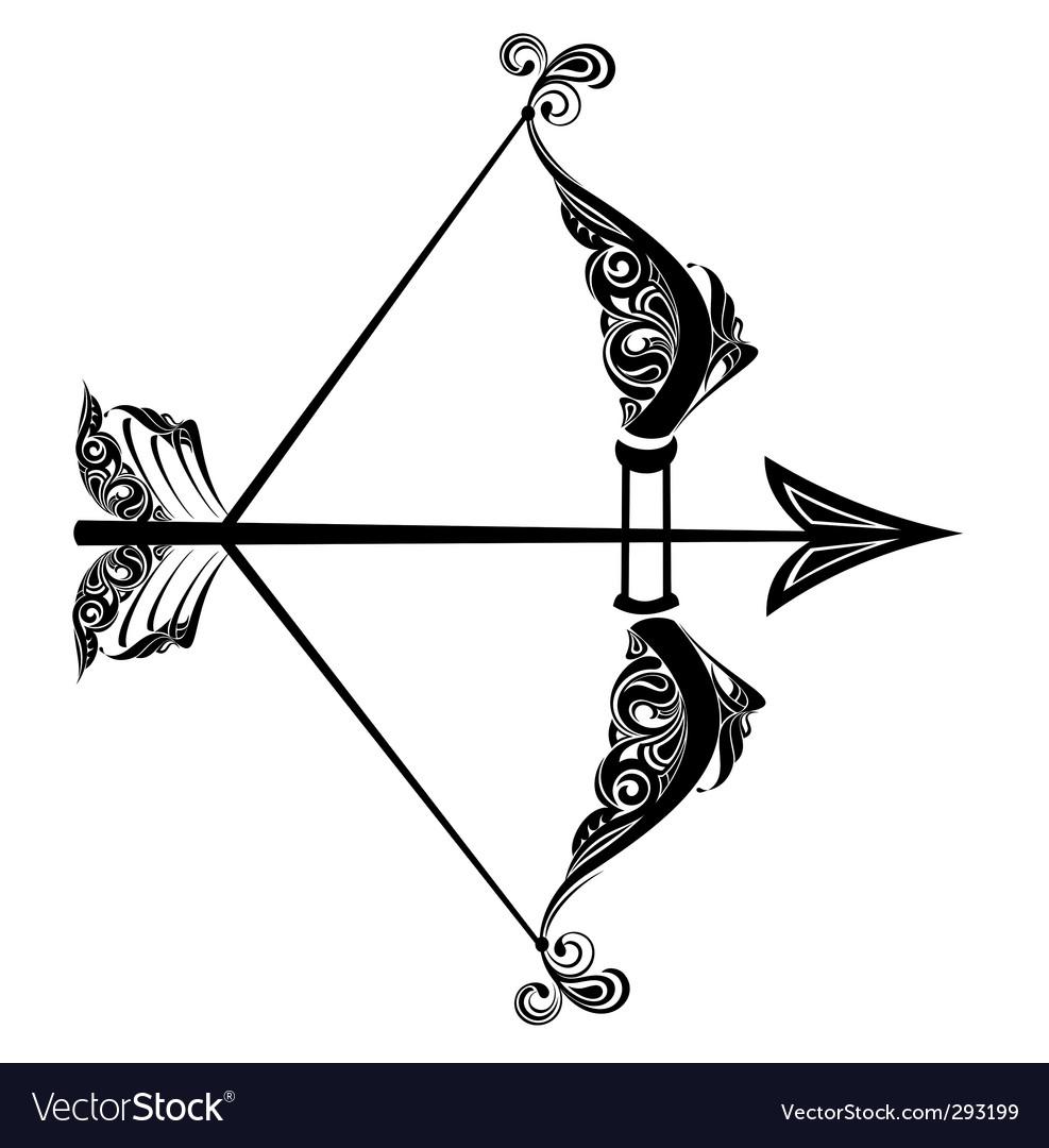 Zodiac sign of Sagittarius vector image