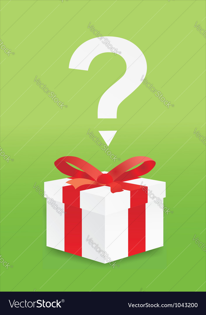 Box with a surprise vector image