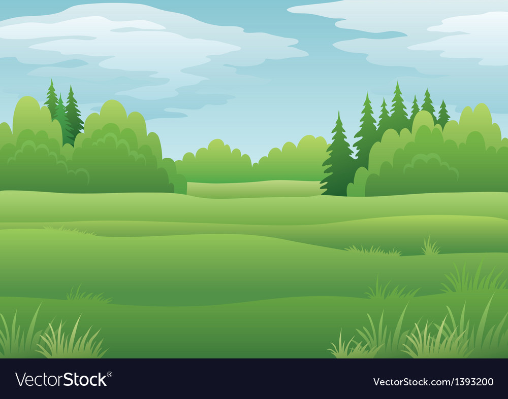 Landscape summer forest vector image