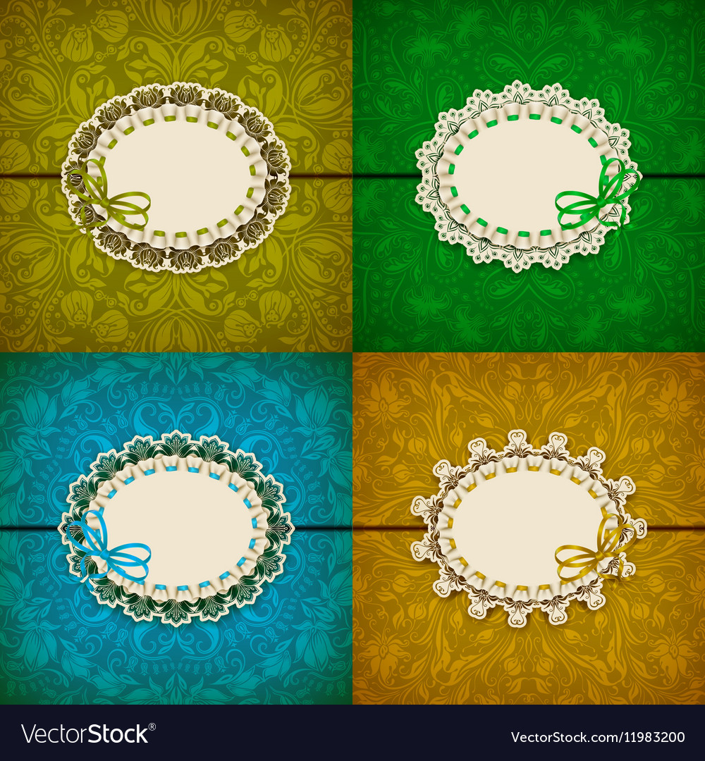 Elegant template for luxury invitation vector image