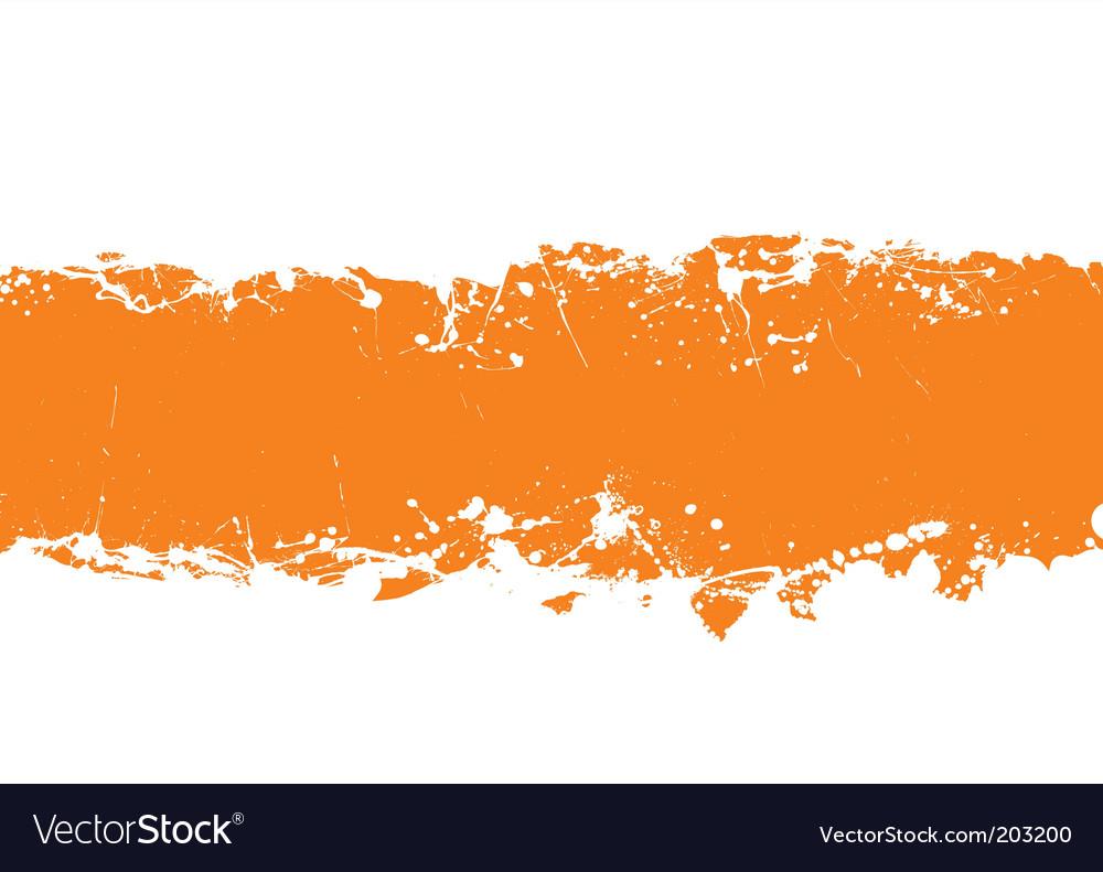 Grunge strip background orange vector image