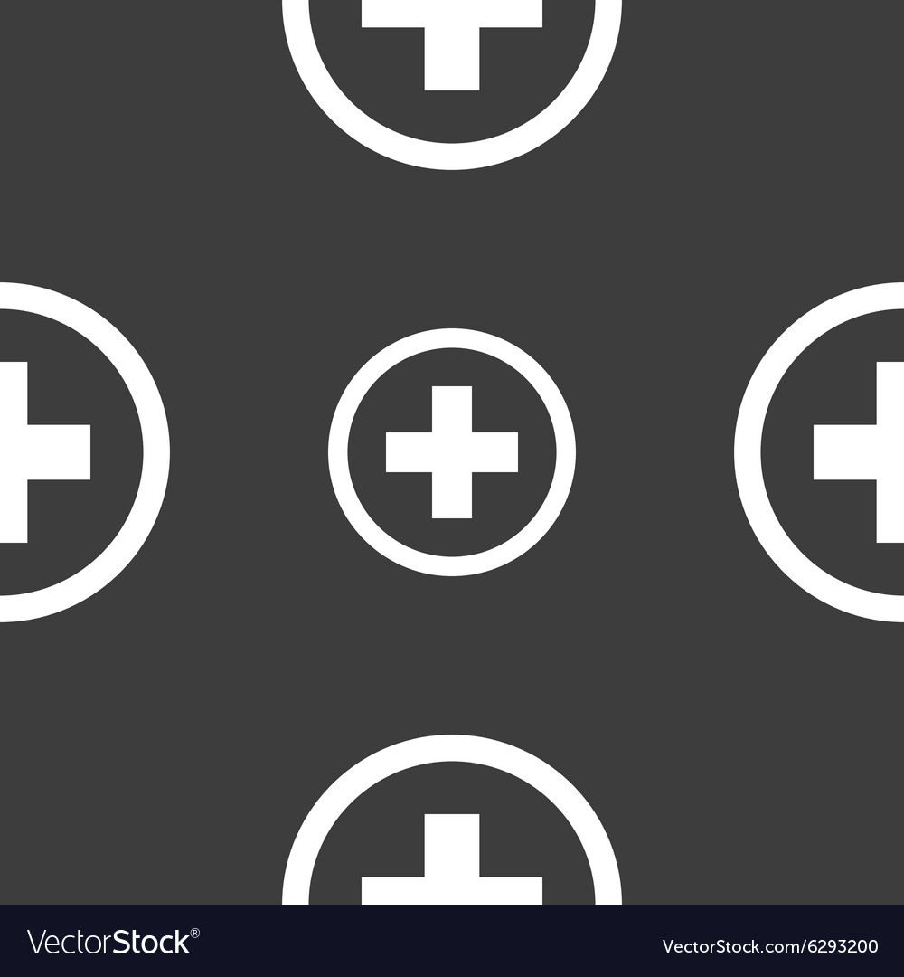 Plus sign icon positive symbol zoom in seamless vector image plus sign icon positive symbol zoom in seamless vector image biocorpaavc Choice Image