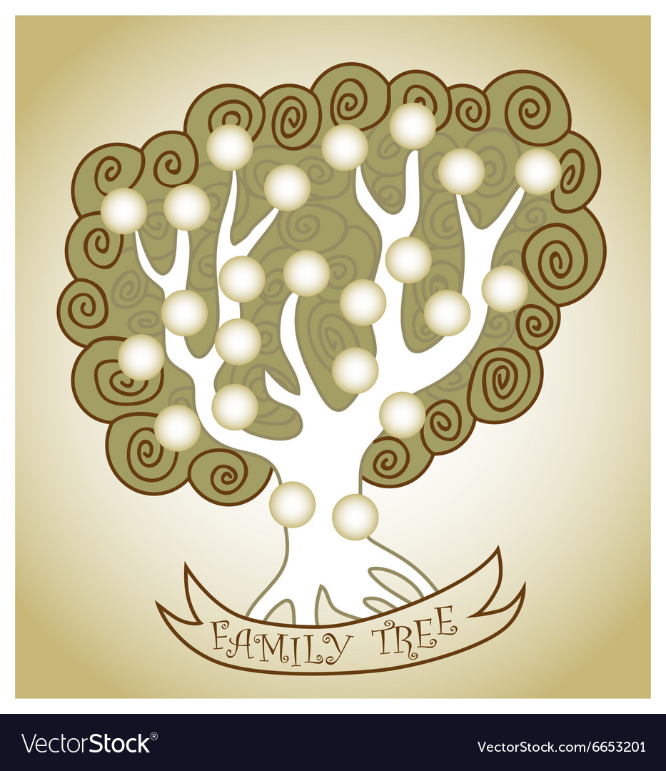 Family Tree curly vector image