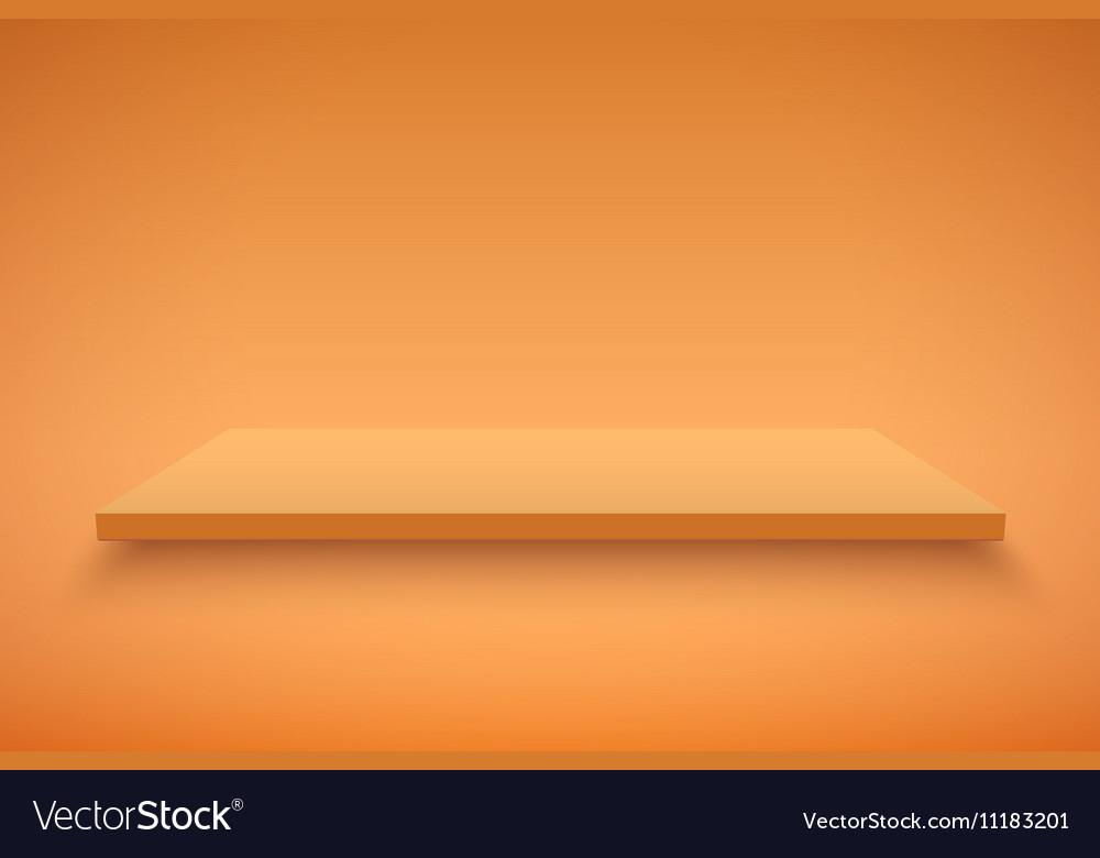 Orange Presentation platform vector image