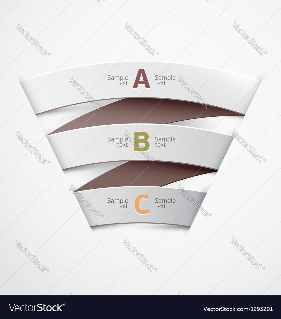 White ribbon vector image
