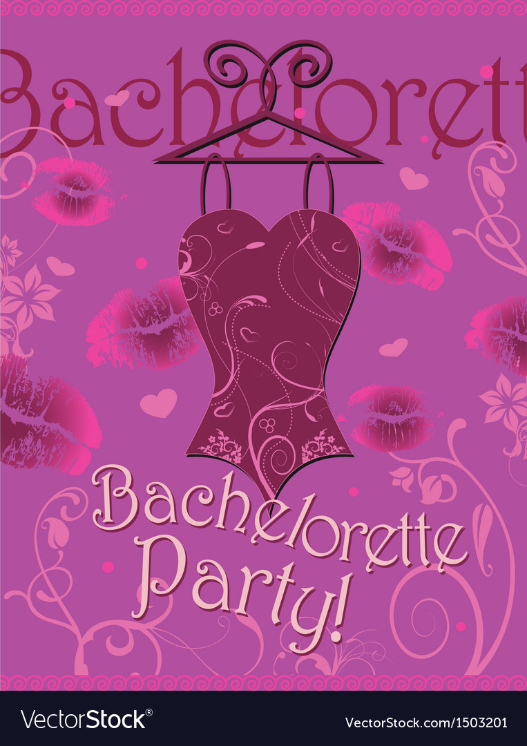 Wrapping gifts corset bachelorette party vector image