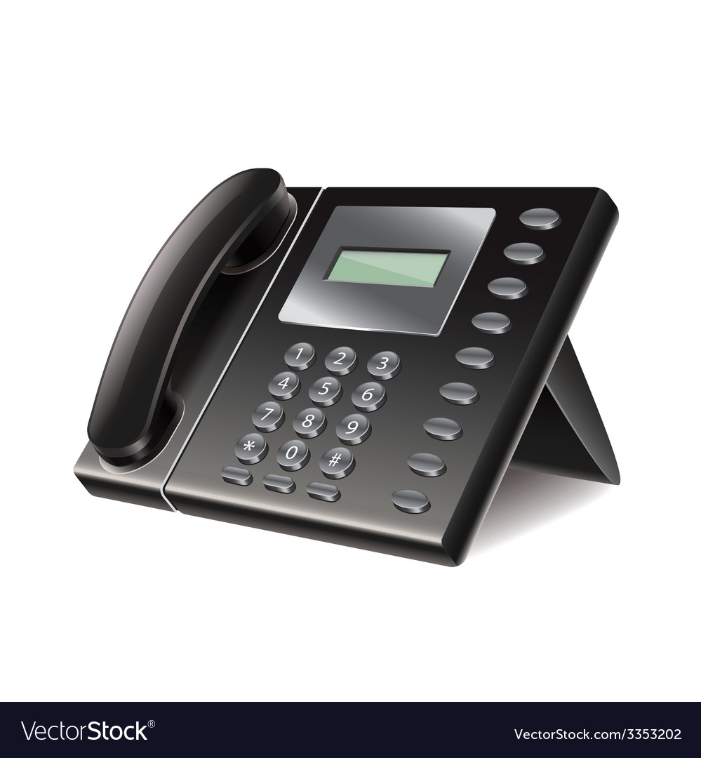 Office phone isolated vector image