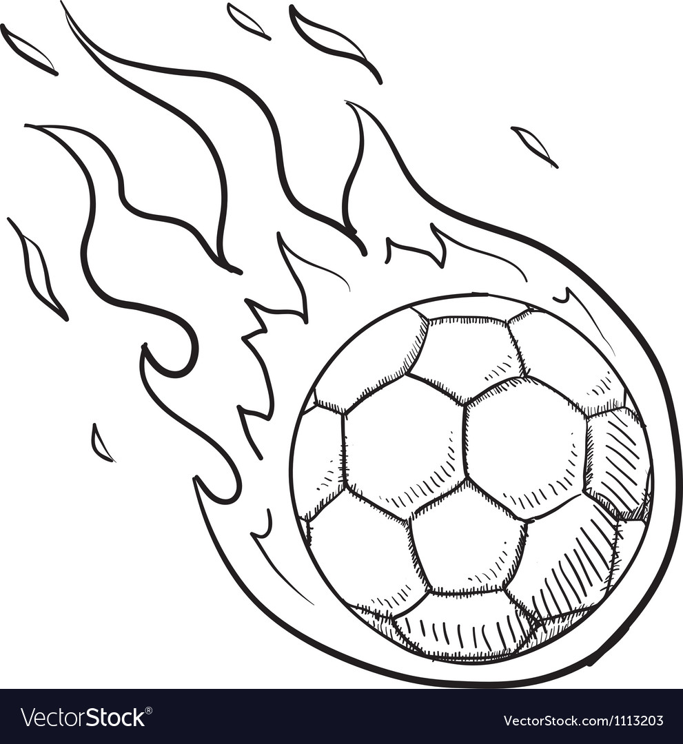 Football ball on fire