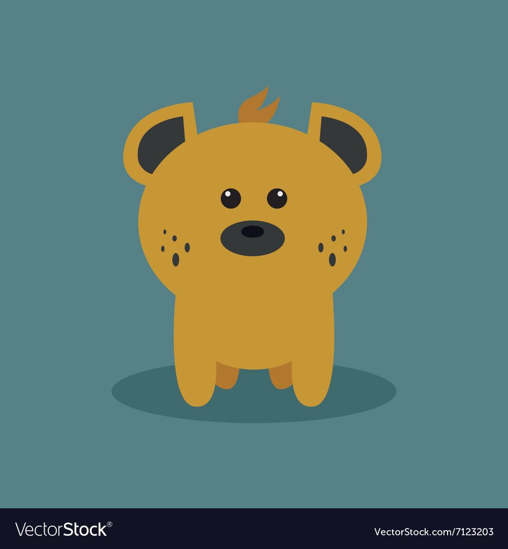 Cute Cartoon Hyena vector image