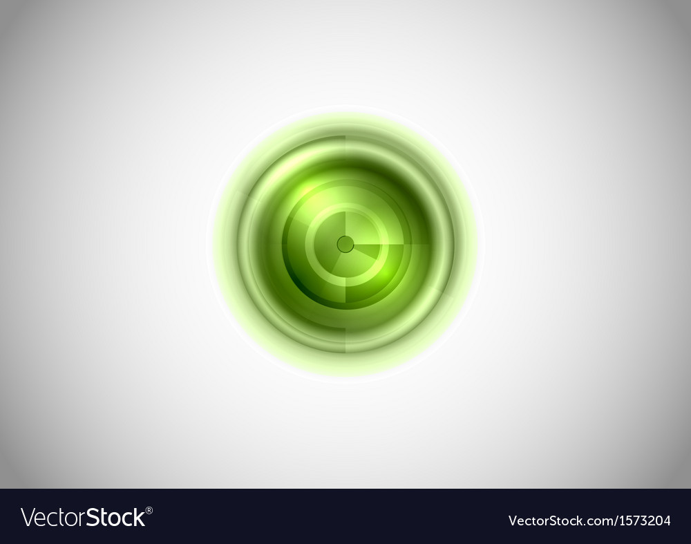Abstract center point green vector image