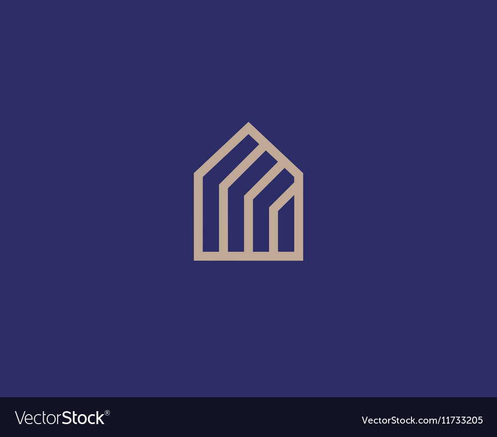 Abstract house logo design template Premium vector image