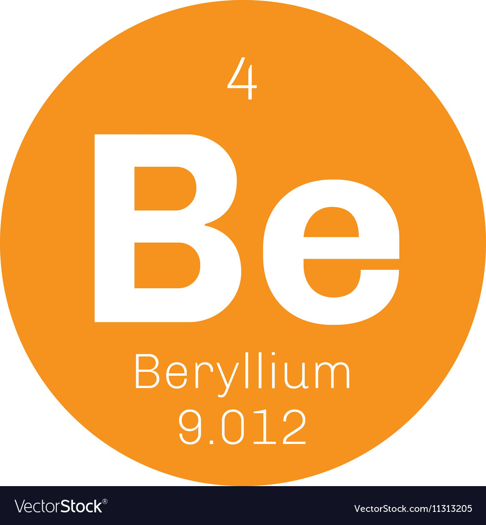 Beryllium chemical element royalty free vector image beryllium chemical element vector image biocorpaavc Images