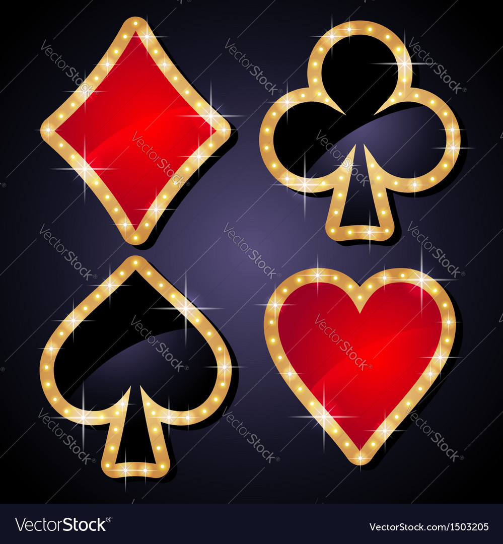 Poker icons set vector image