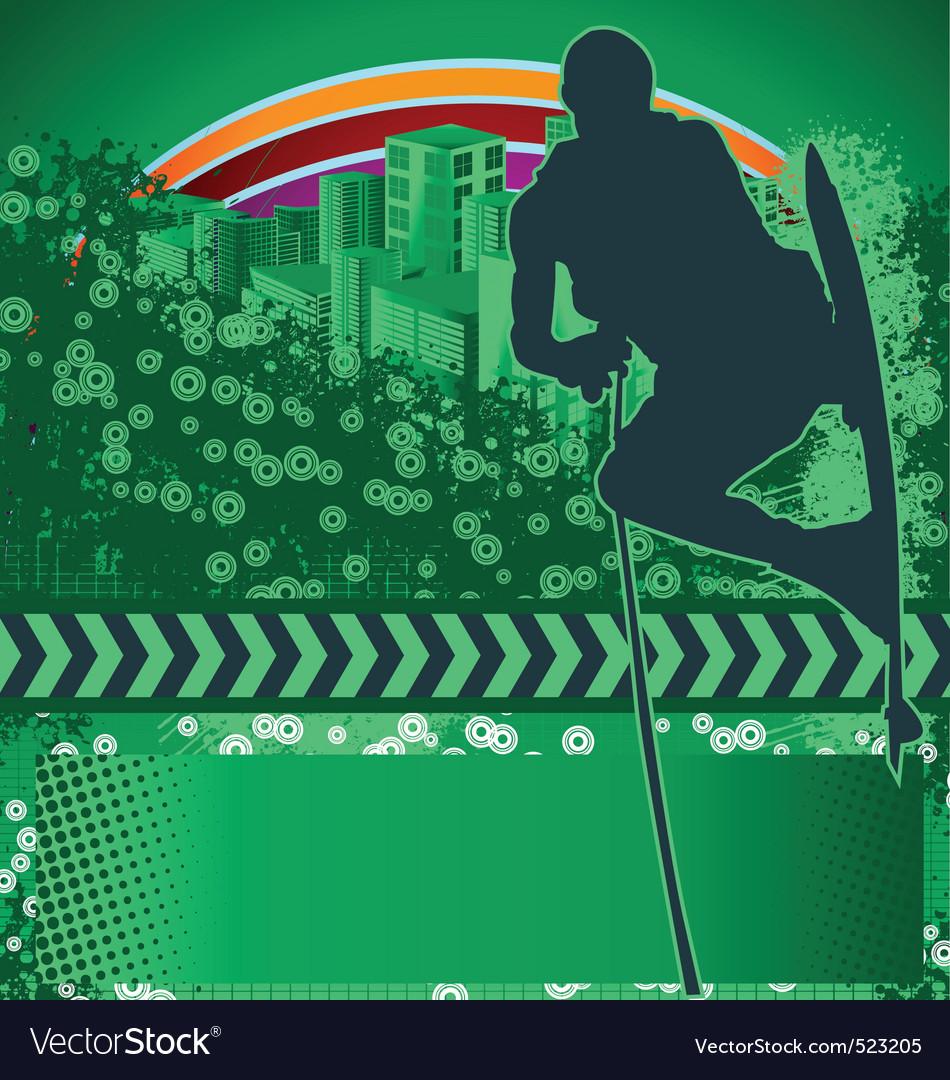 Wakeboarder grunge background vector image