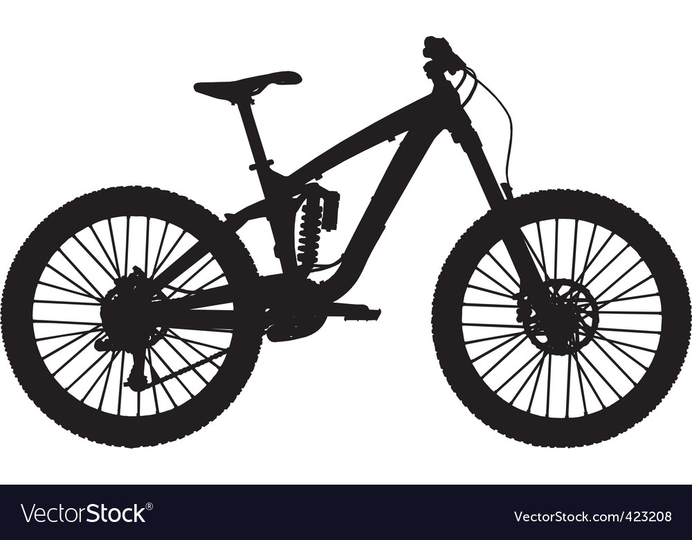 Downhill mountain bike vector image