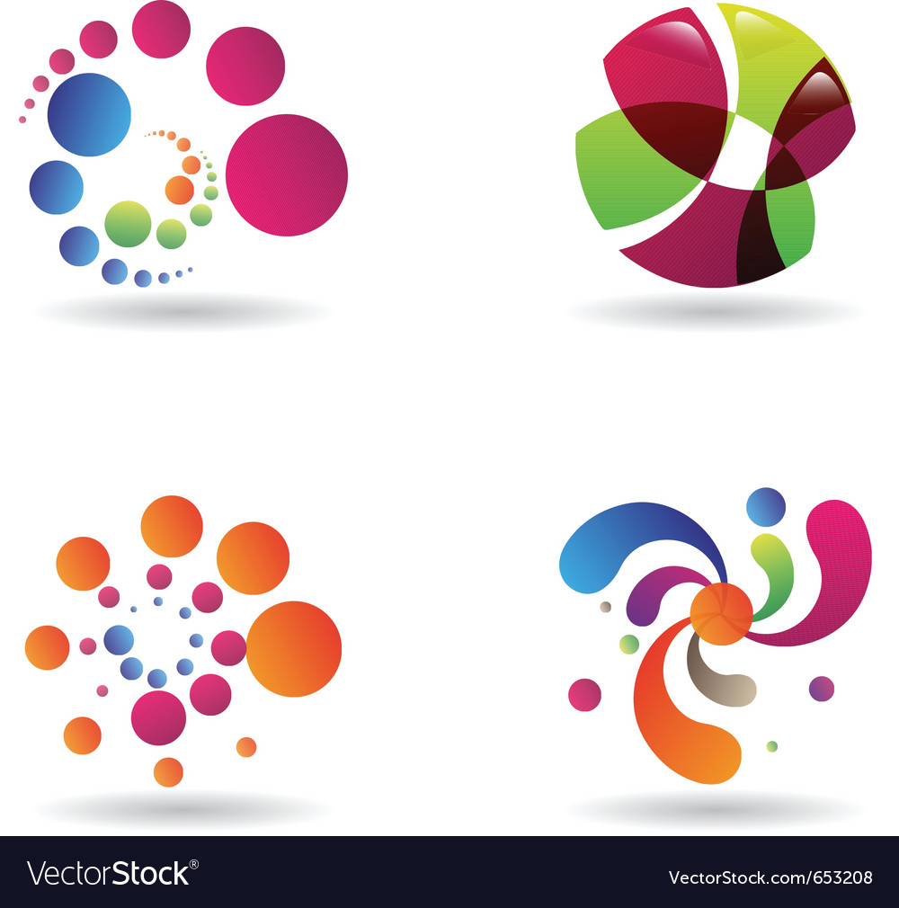 Sci-fi abstract designs vector image