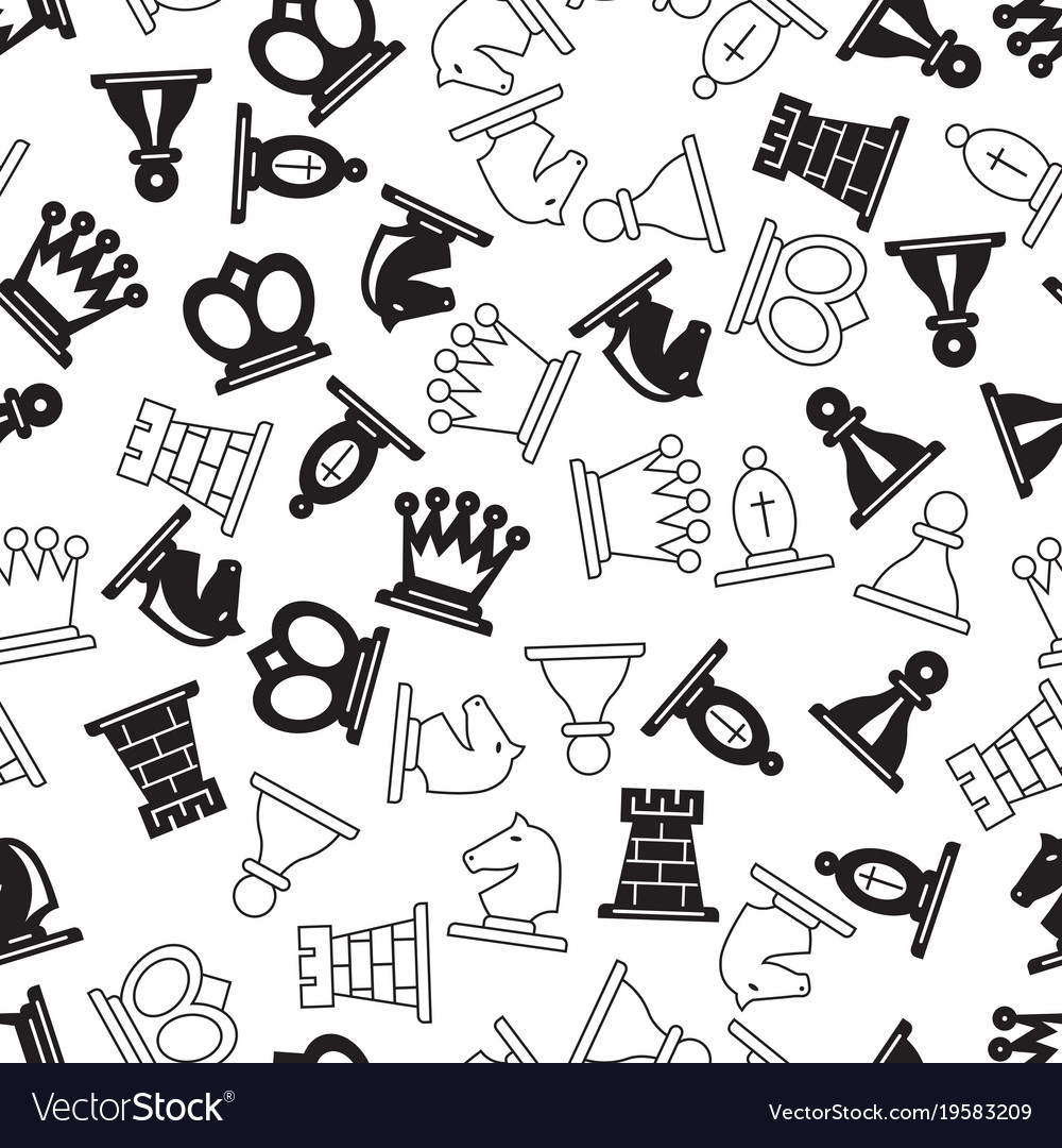Chess symbols pattern royalty free vector image chess symbols pattern vector image biocorpaavc Gallery