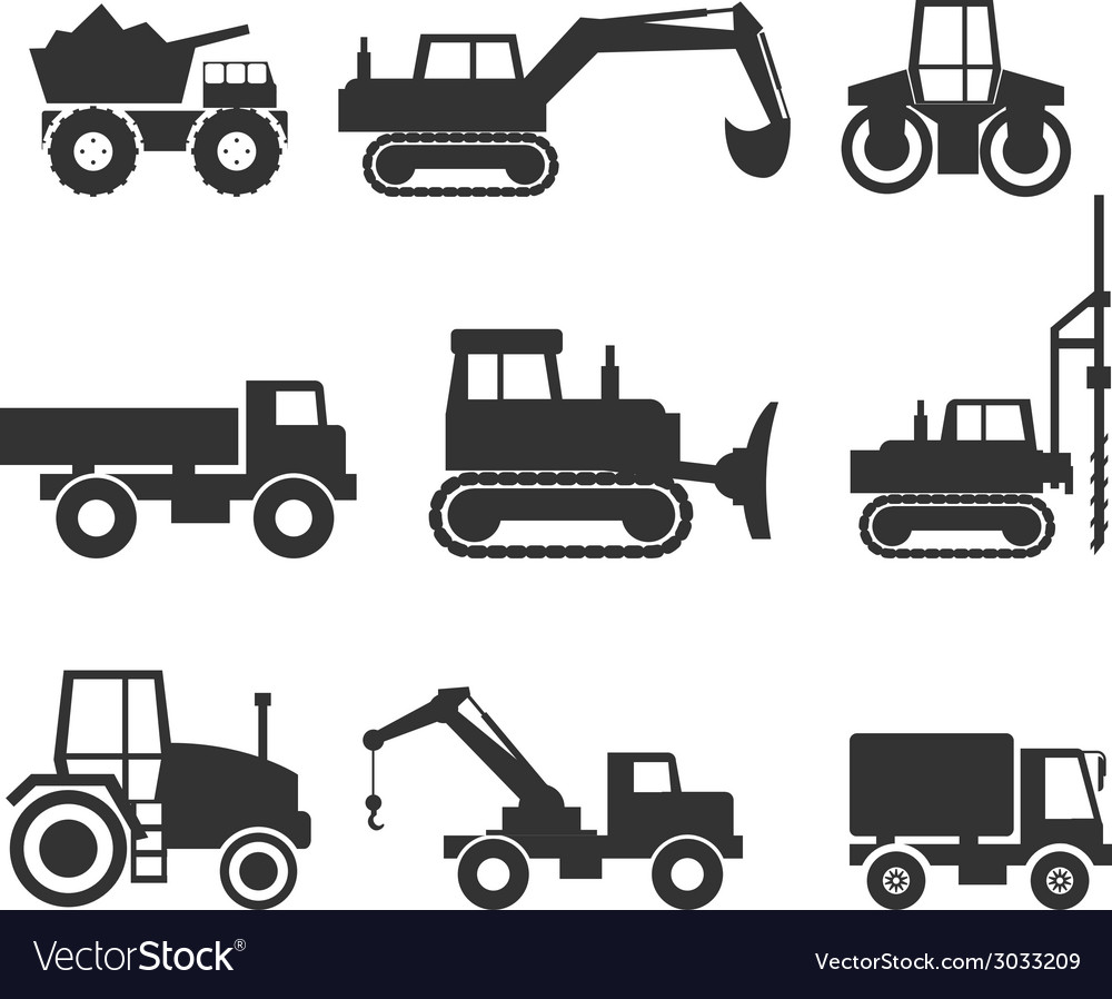 Construction Machinery Icon Symbol Graphics vector image