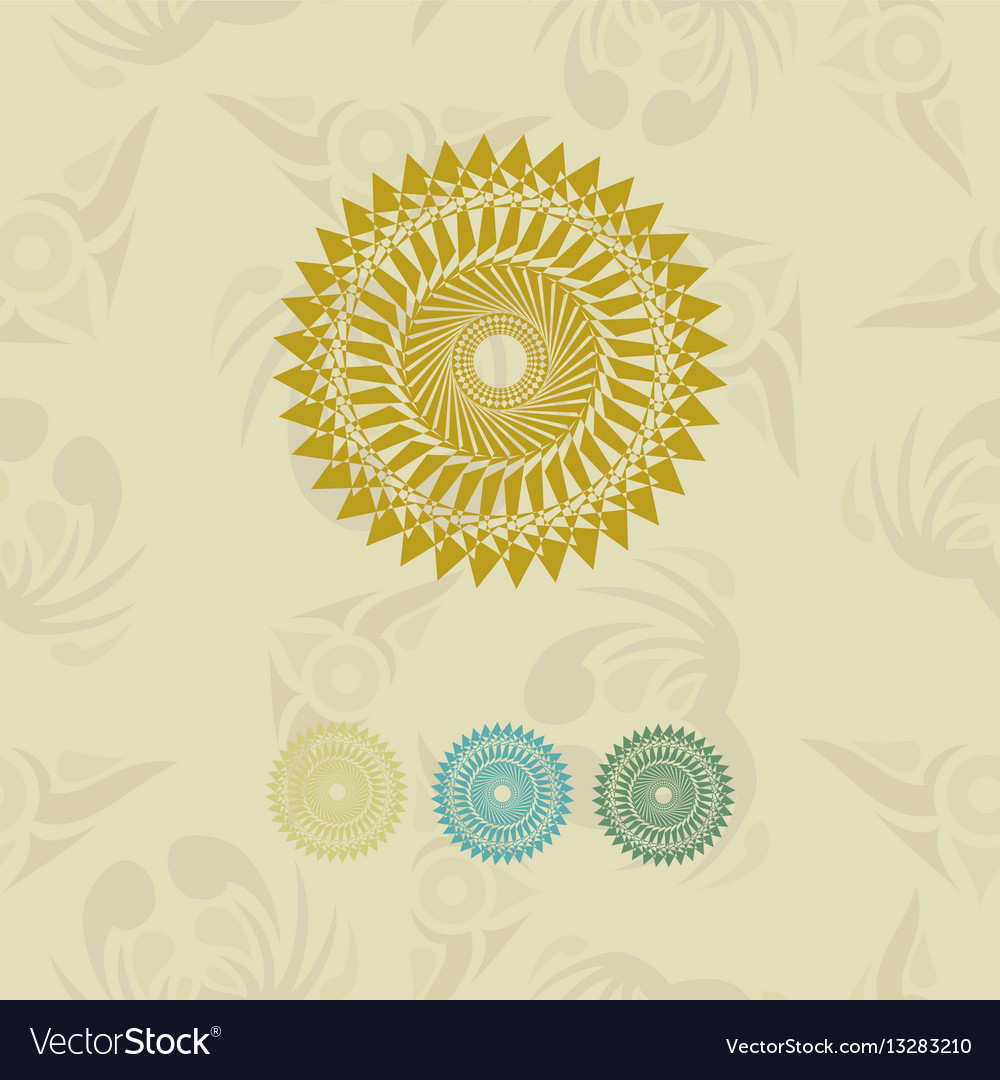 Laser cutting template for greeting cards vector image