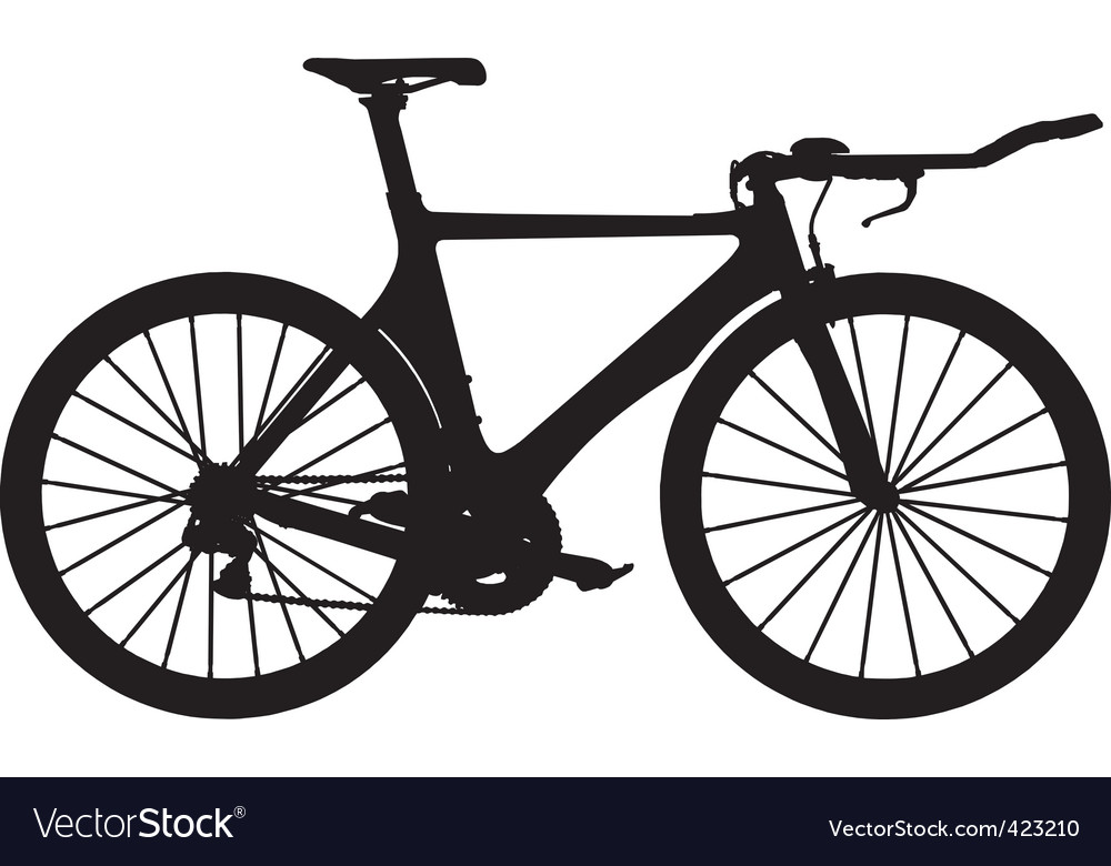Time Trial Road Bike Royalty Free Vector Image