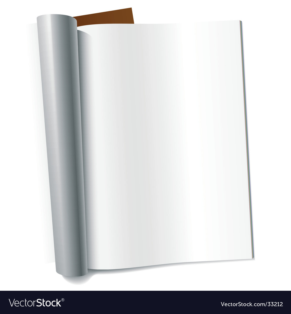 Blank magazines vector image