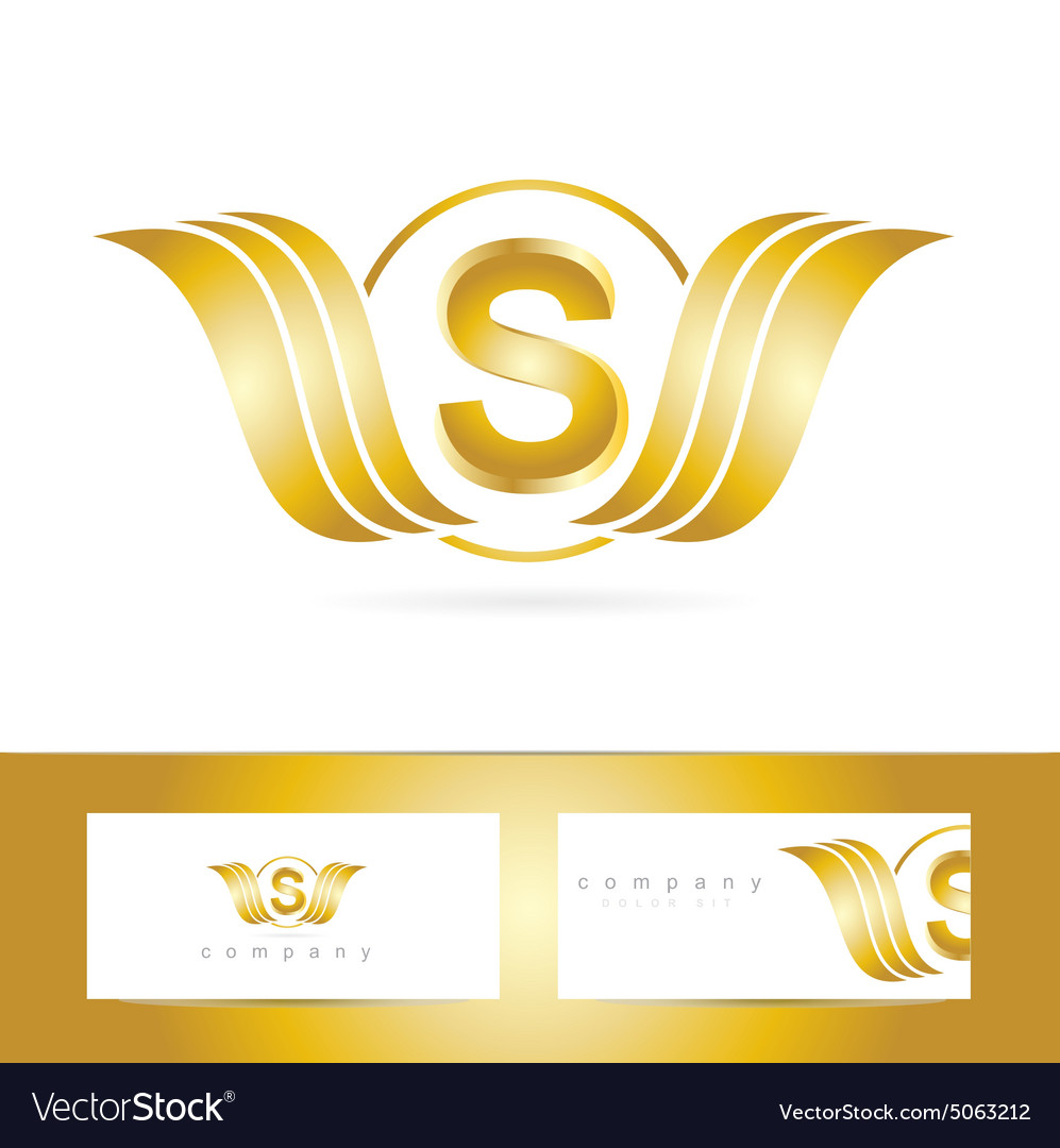 Letter s logo gold wings royalty free vector image letter s logo gold wings vector image thecheapjerseys Images