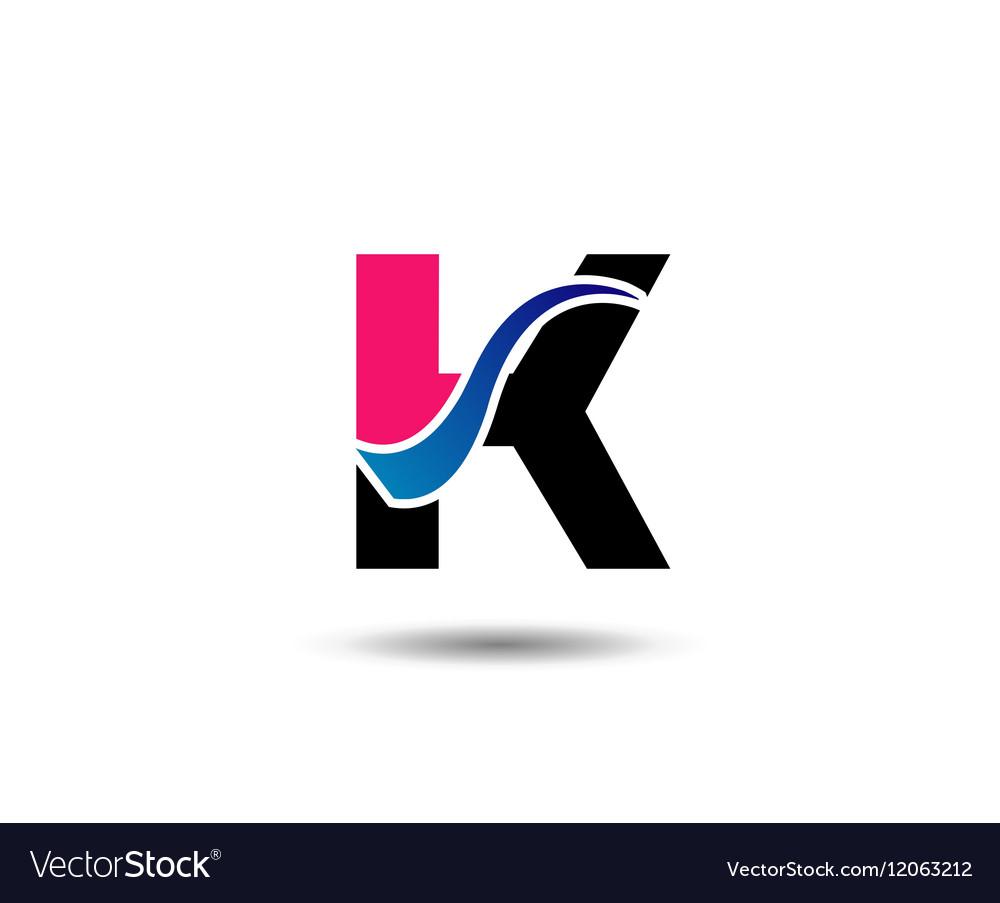 Logo k letter company design template royalty free vector logo k letter company design template vector image spiritdancerdesigns Images