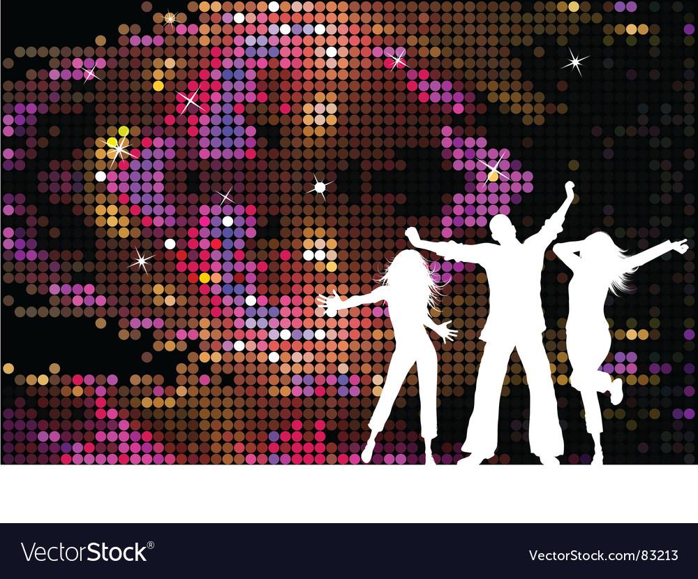 Disco people vector image