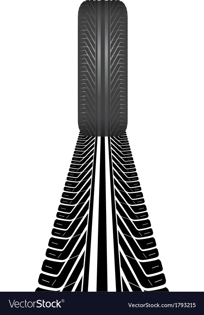 tire track royalty free vector image vectorstock rh vectorstock com tire track vector art tire track vector grunge