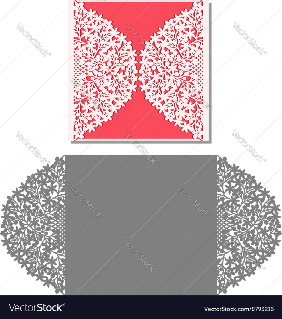 laser cut envelope template for invitation wedding