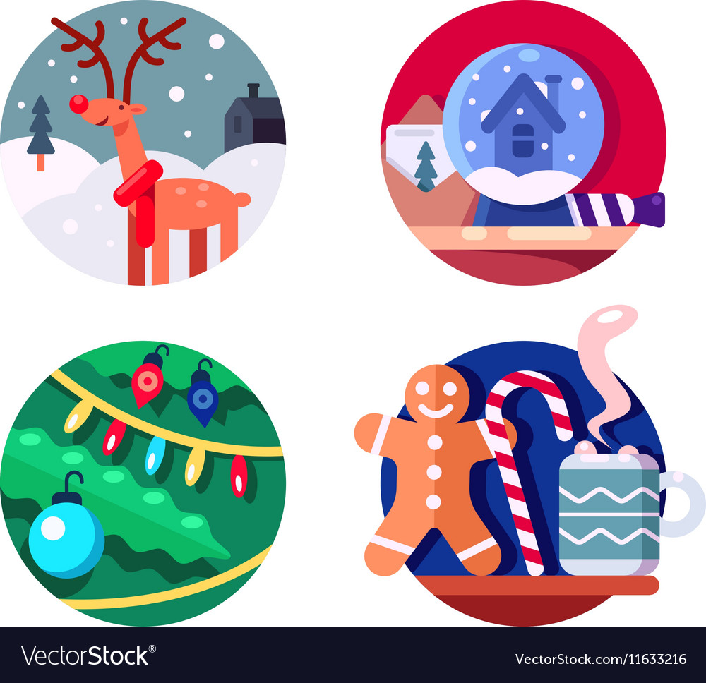 North Christmas reindeer vector image