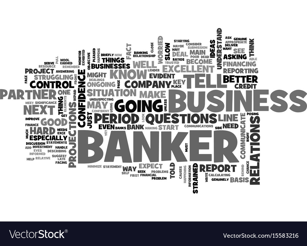 Why banks are your best partner in business text vector image